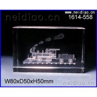 China Train-Square 3D Laser Crystal wholesale