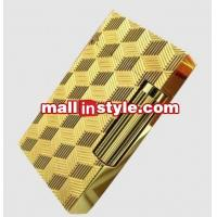 China Golden Lighter S.T.Dupont Unisex Rhombus Carving on sale