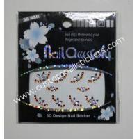 China Nail Art White + Orange colorful rhinestone stickers for cell phone EN-71 passed wholesale