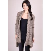 China Forever Unique Taupe Kathy Knit Cardigan wholesale
