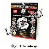 China The Original Poker Chip Customizer LABELS ONLY wholesale