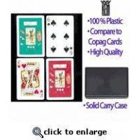 China Golf Theme KEM Plastic Playing Cards on sale