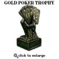 Buy cheap Gold Metal Poker Trophy from wholesalers