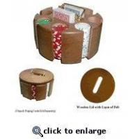 Buy cheap Solid wood 200 chip carousel with lid from wholesalers