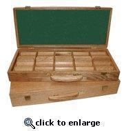 Buy cheap Oak Finish Wooden Poker Chip Carrying Case W/Trays - Holds 500 chips from wholesalers