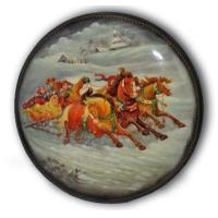 Buy cheap Winter Sleigh Ride - Fedoskino Lacquer Box from wholesalers