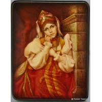 Buy cheap Fedoskino Lacquer Box - Near the Chimney by Ilyin L.N. from wholesalers