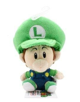 "Quality San-ei Mario Plush Series Stuffed Toy - 5"" Baby Luigi (Japanese Import) for sale"