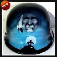 China Airbrushed Helmets Sky Chief Airbrushed Motorcycle Helmet wholesale