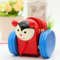 Buy cheap mini wooden animal pull cord toy early explore educational wooden toy from wholesalers