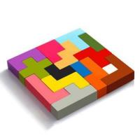 Buy cheap 2018 colorful kids tetris wooden toy from wholesalers