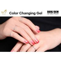 China Easy Peel Off Colour Changing Gel Nail Polish , Heat Sensitive Nail Polish on sale