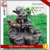 China Animal Statues Factory price polyresin angel baby garden water fountain wholesale