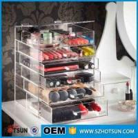 China For wholesalers acrylic makeup organizers cosmetic drawer box wholesale