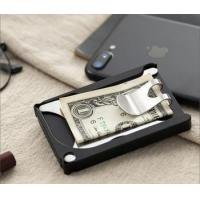 Premium Aluminum Ultimate Compact Minimalist Wallet Money Clip for Cards