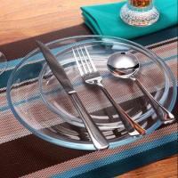 China Dinner Plate, Clear 18-Piece Glass Dinnerware Service for 6 wholesale
