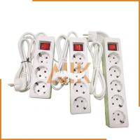 China 4 Ways Receptacles with Cord and European Plug (2 Round Pins) wholesale
