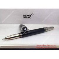 China Copy Montblanc StarWalker Rollerball Pen Black and Silver Barrel on sale
