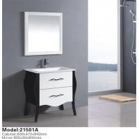 China Customize Design European Style Solid Wood Bathroom Cabinet For Hotel wholesale