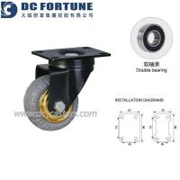 China 3 Inch Small Industrial Rubber Wheels and Chair Castors wholesale