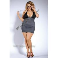 China teacher costume with striped spandex stretchy halter dress wholesale