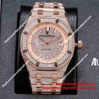 Buy cheap Replica Audemars Piguet Royal Oak Fully Iced Out All Rose Gold Watch from wholesalers
