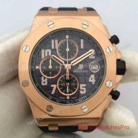Buy cheap Replica Audemars Piguet Royal Oak Offshore Watch Rose Gold Black Chronograph 072927 from wholesalers