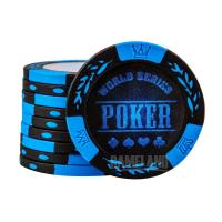 China 14g Two Tone Leaf Clay Composite Custom Poker Chips on sale