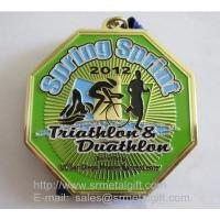 Buy cheap Triathlon metal medals, enamel metal competition medal with color fills from wholesalers