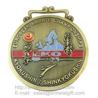 Buy cheap Karate championship metal medals wholesale, custom sports medal from wholesalers