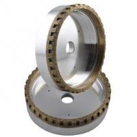 Outside segmented diamond grinding cup wheel for beveling machines
