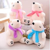 China Boutique polar bear doll with scarf bear soft toy DS-BR008 wholesale
