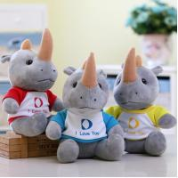 Buy cheap Creative animal rhinoceros plush toys cow doll DS- DS-CW007 from wholesalers