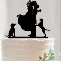 LMCT-002 Bride & Groom topper Bride and groom acrylic cake stand topper for cake decoration