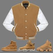 China CLEARANCE Essential Wheat Varsity Jacket to match Jordan Wheat Sneakers on sale
