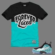 China CLEARANCE Forever Laced Youth T-Shirt to match Nike Air Foamposite Pro Island Green on sale