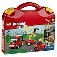 Quality LEGO Juniors Fire Patrol Suitcase 10740 Toy for 4-7-Year-Olds for sale