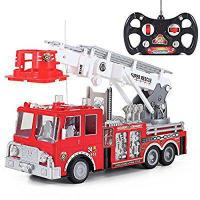 """Quality 13"""" R/C Rescue Fire Engine Truck Remote Control Kids Toy with Extending Ladder for sale"""