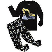Quality IF Pajamas Boys Truck Bulldozer Little Kids Pjs Sets 100% Cotton Toddler Sleepwears for sale