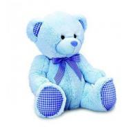 Keel Toys 25 cm Nursery Gingham Bear (Blue)