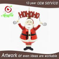Buy cheap Traditional Blown Hand Painted Glass Santa Decorations For Christmas Ornaments from wholesalers