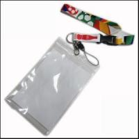 China Big PVC ID Card Holder Polyester Lanyard Production from Zhanhong wholesale