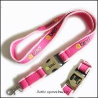 China Comfortable Serging Stitch Neoprene Lanyards with Custom Quick Buckle wholesale