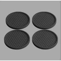 China Custom Soft Rubber Soft PVC Coaster Round wholesale
