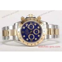 China Rolex Watches Replica Rolex Daytona 2-Tone Blue Dial Gold Bezel Mens Watch on sale