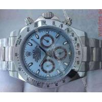 China Rolex Watches Clone Rolex Daytona Stainless Steel Blue Face 40mm Mens Watch wholesale