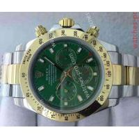 China Rolex Watches Clone Rolex Daytona Two Tone Green Dial 40mm Mens Watch wholesale