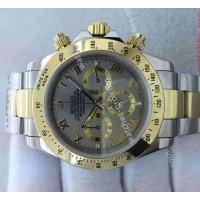 China Rolex Watches Clone Rolex Daytona 40mm 2-Tone Grey Roman Face Watch on sale