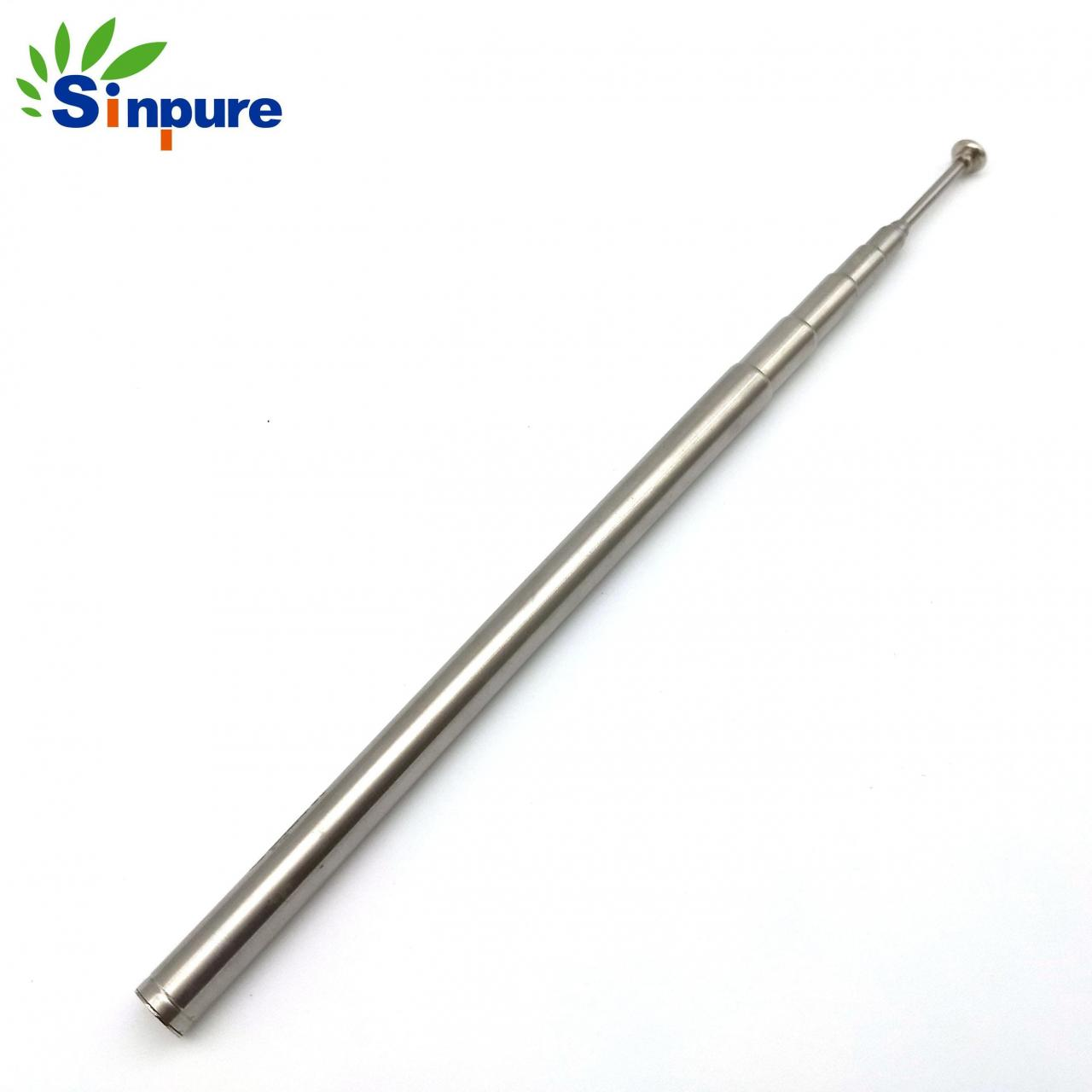 China Customized chrome-plated steel telescopic rod antenna with cap