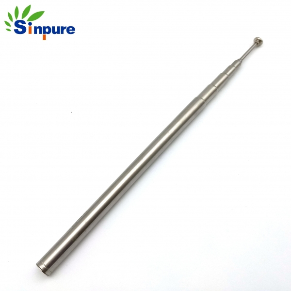 Quality China Customized chrome-plated steel telescopic rod antenna with cap for sale